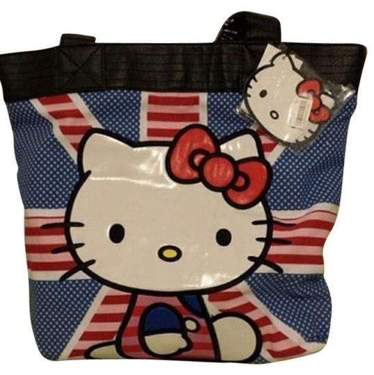 Hello Kitty Tote in Blue/red/pink/black