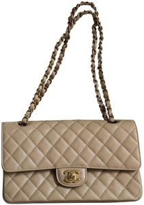 cf57171475fe Chanel Classic Quilted Double Flap Caviar Shoulder Bag
