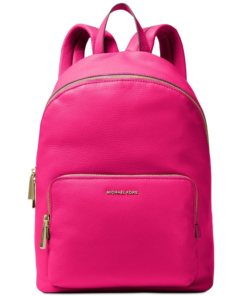Michael Kors Wythe Lg Ultra Pink Leather