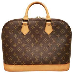 Louis Vuitton Alma Pm Canvas Tote in Brown