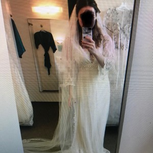 Blossom Off White Long With Tags Chapel Length Bridal Veil