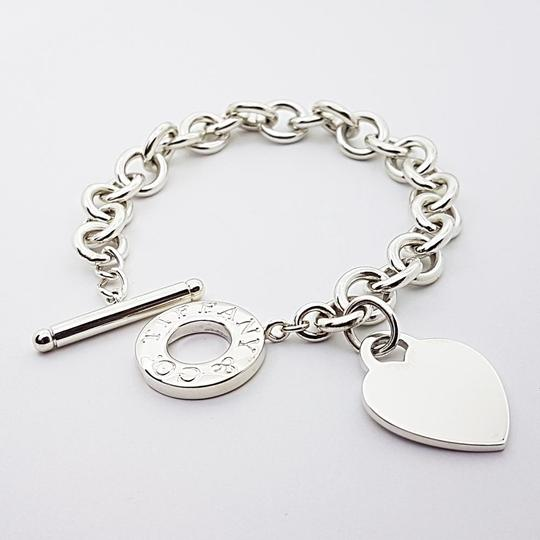 Toggle Charm Bracelet: Tiffany & Co. Sterling Silver Toggle With Heart Charm