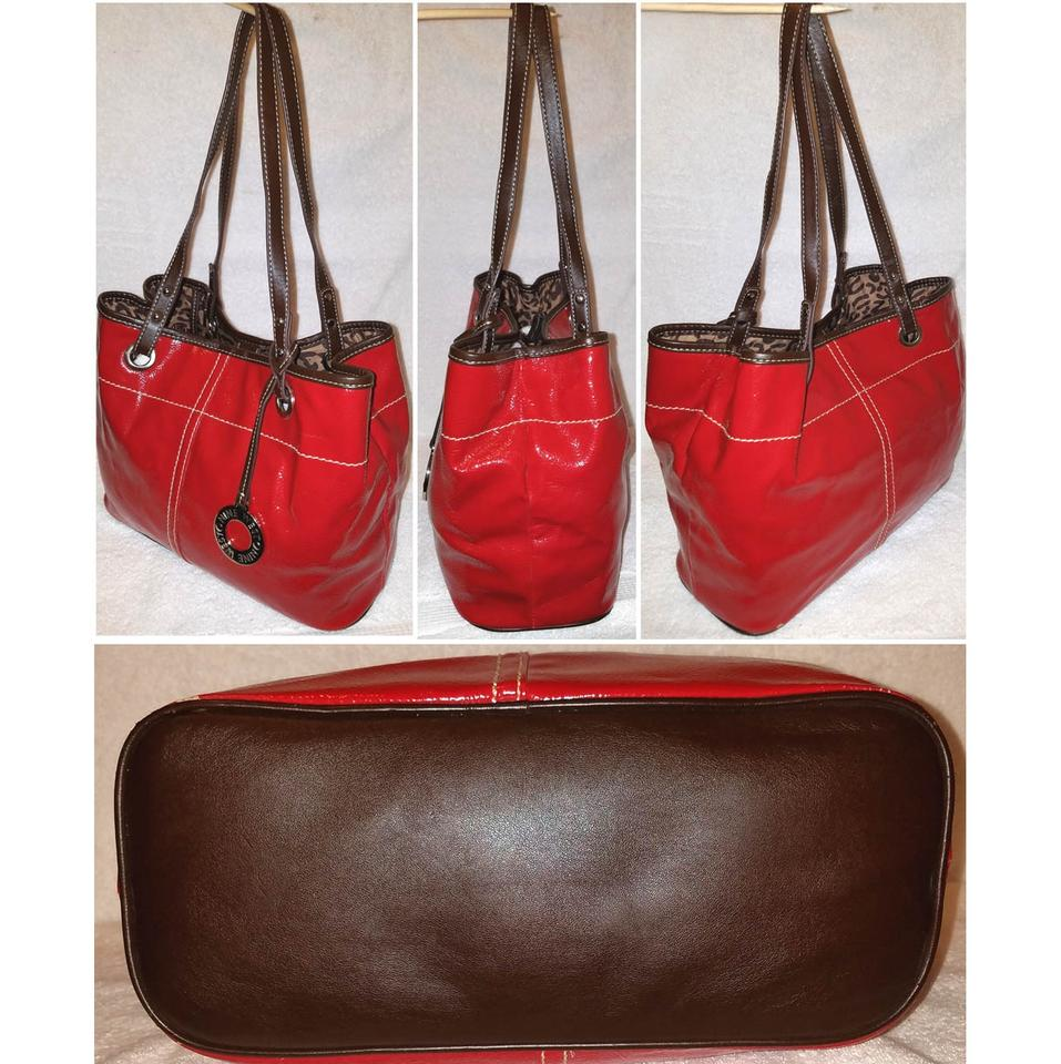 Nine West And Matching Accessory Red Patent Leather Tote