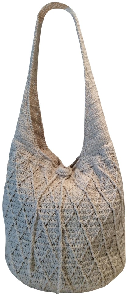 Bohemian Style Natural Beige Cotton Hobo Bag 28 Off Retail
