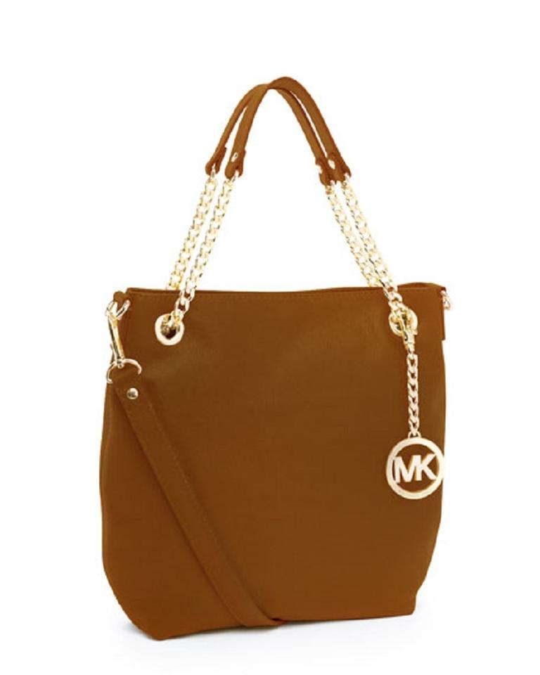 Michael Kors Gold Keychain Convertible Satchel Shoulder Bag 12345678910
