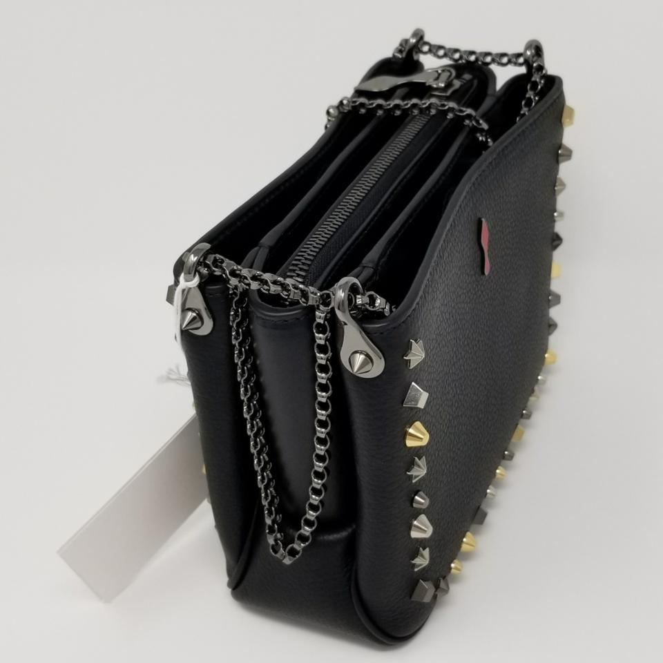 218b084c3a1 Christian Louboutin Triloubi Small Calf Studded Black Shoulder Bag
