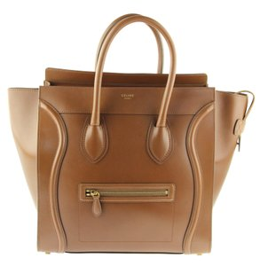 Céline Luggage Brown Small Luggage Tote in Camel