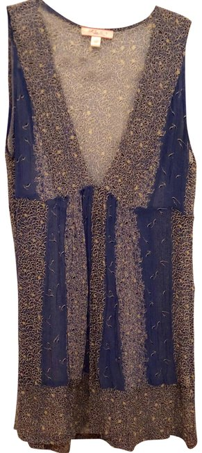 Item - Blue Sheer Printed Tunic Size 4 (S)