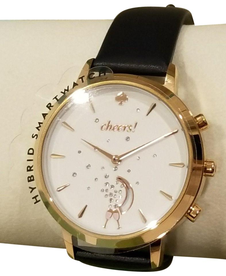 2fe474c15 Kate Spade KATE SPADE Hybrid SmartWatch Blue Navy Leather Cheers Rose Gold  Tone Image 0 ...
