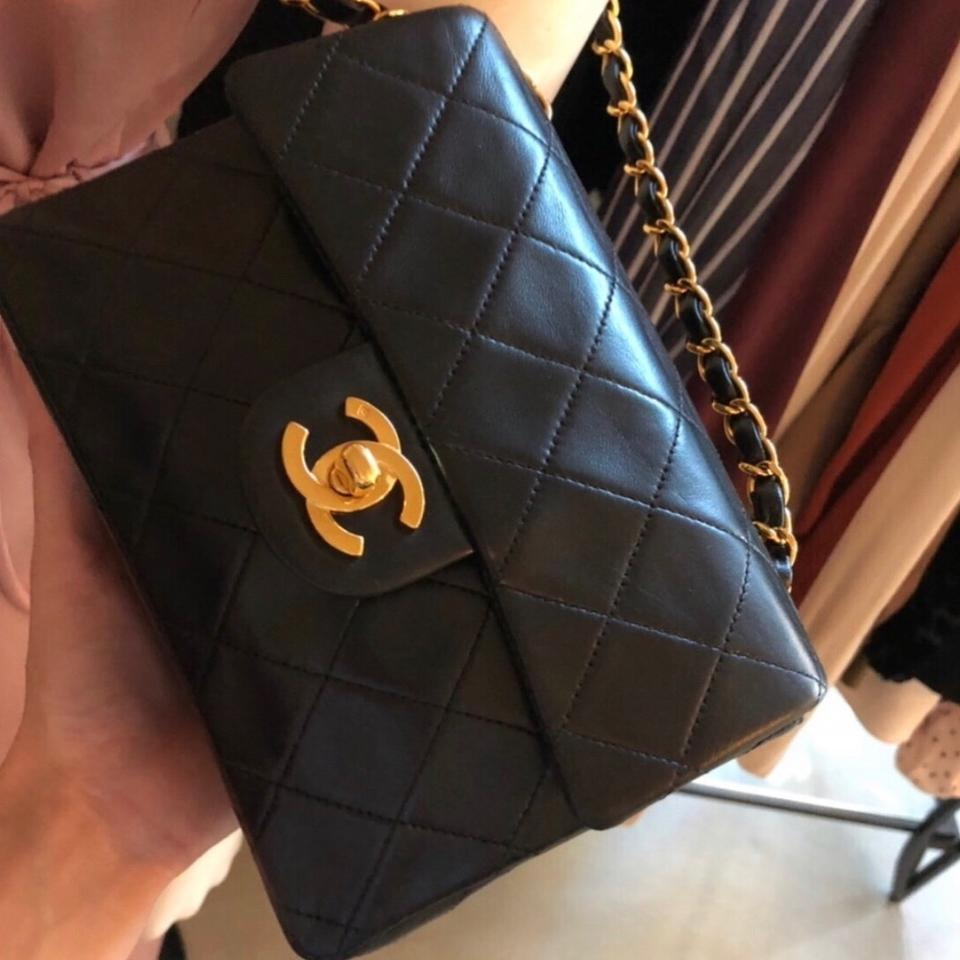 ad5e982aa041 Chanel Timeless Quilted 24k Gp Mini Shoulder Black Lambskin Leather Cross  Body Bag - Tradesy