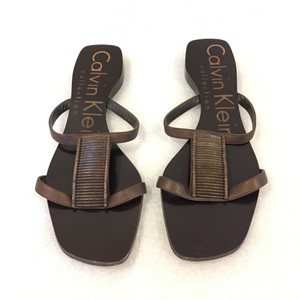 Calvin Klein Collection metallic brown Sandals