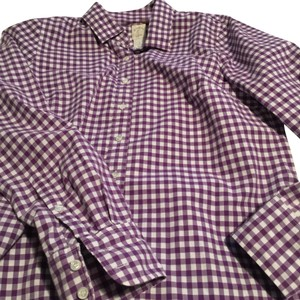 American Eagle Outfitters Button Down Shirt blue/white stripe