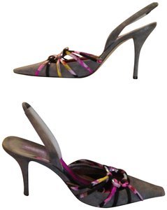 Emilio Pucci Gray/Black Multi Pumps
