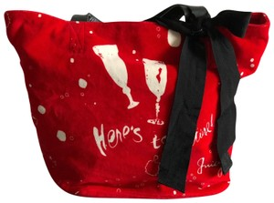 Juicy Couture Cherries Leather Tote in Red
