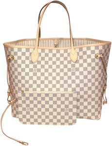 Louis Vuitton Neverfull Gm Neverfull Gm W Pouch Neverfull With Pouch Neverfull Gm Neverfull Tote in Damier azur