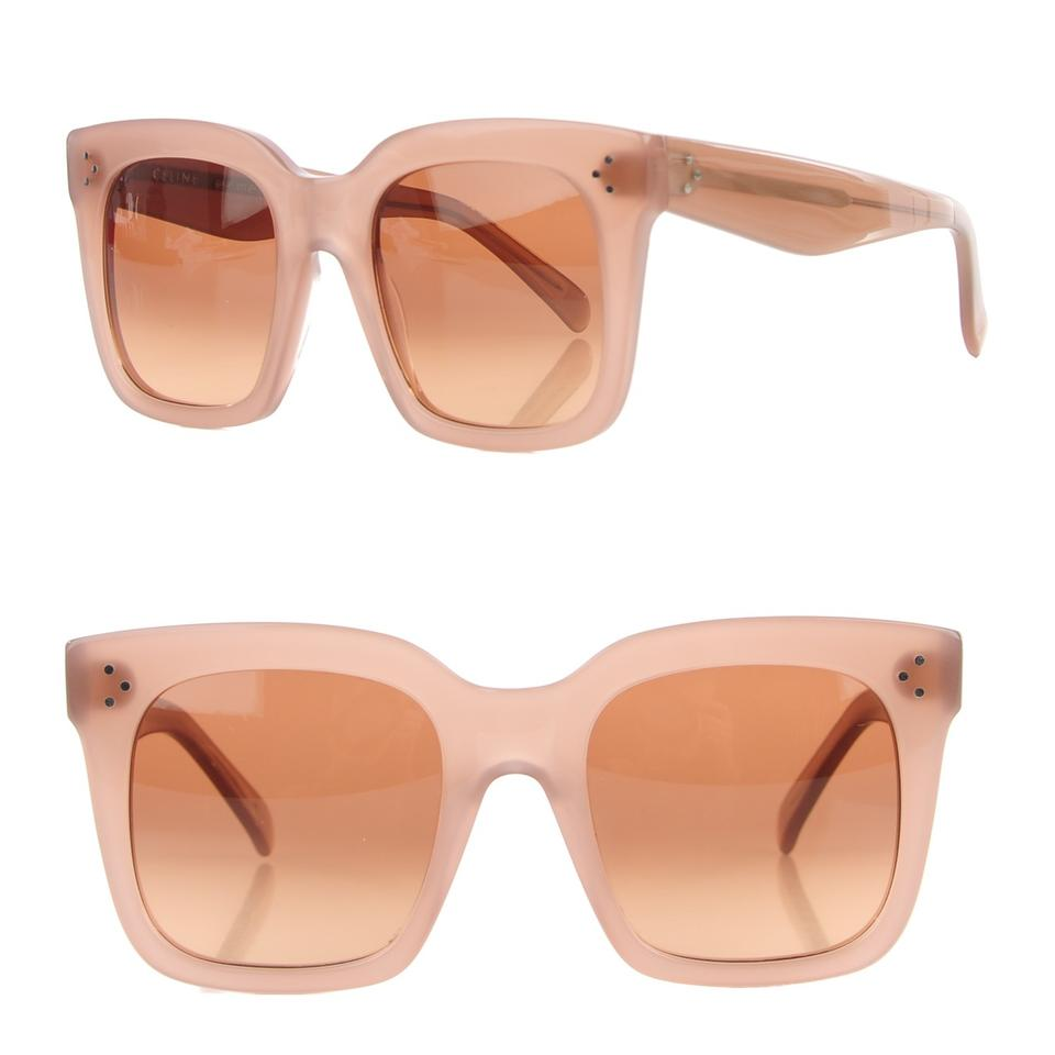 7e136e24de0 Céline NEW Celine Tilda Sunglasses CL 41076 Opal Brown Pink Oversized Square  Image 0 ...
