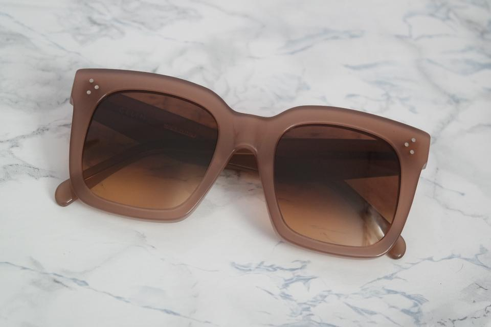 57b73490dde Céline NEW Celine Tilda Sunglasses CL 41076 Opal Brown Pink Oversized Square  Image 8. 123456789