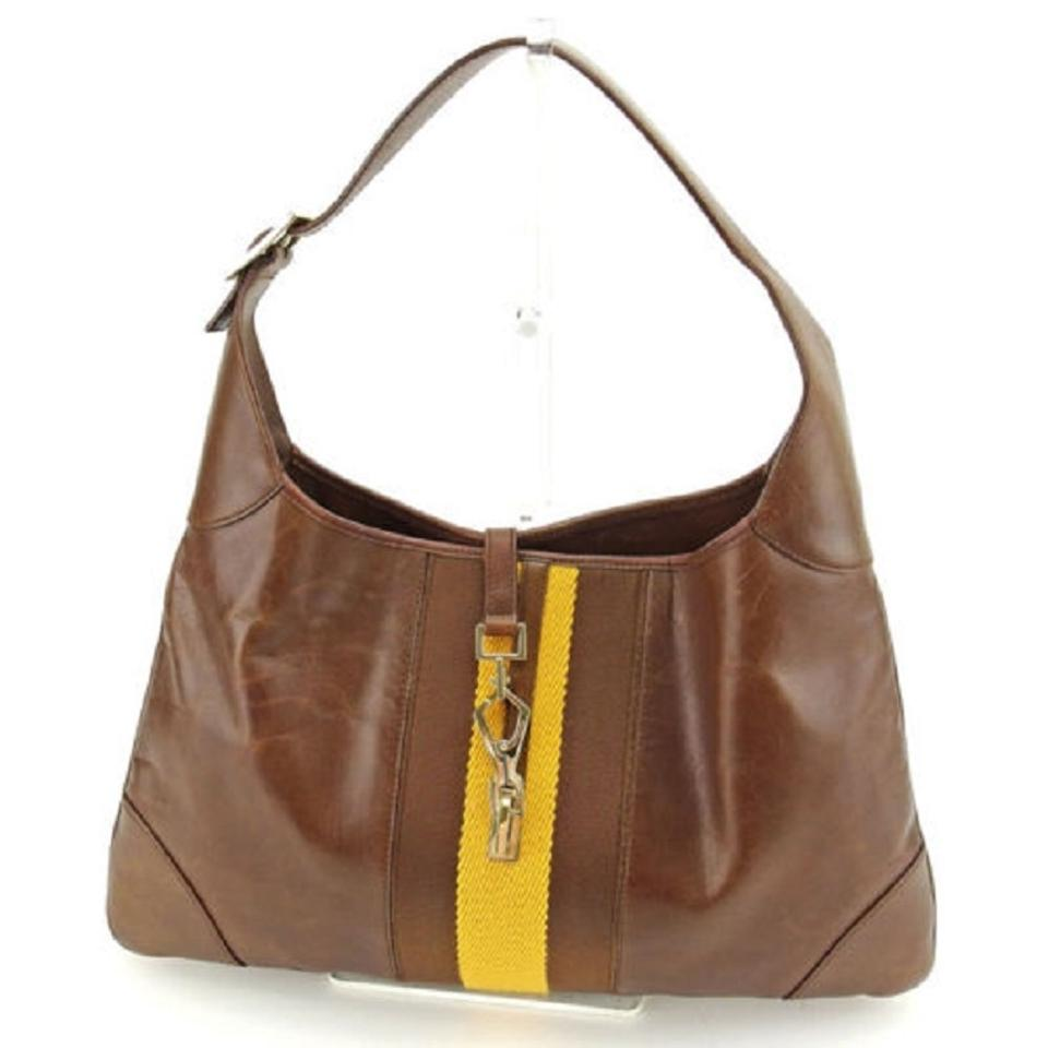 Gucci Jackie O Excellent Vintage Rare Limited Edition Triangular Shape  Great For Everyday Hobo Bag ... 02183f5a9b