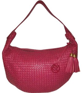 Elliott Lucca Woven Leather Refurbished Lined Extra-large Hobo Bag