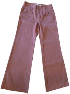 Fossil Casual Wide Leg Pants Rust