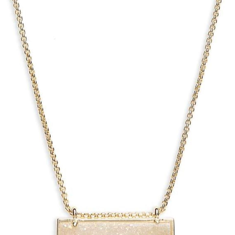 gold bridgete necklace iridescent lg pendant drusy necklaces categories in jewelry kendra scott