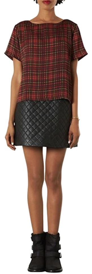 94544fadd0 Topshop Black Quilted Skirt Size 2 (XS, 26) - Tradesy