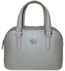 Donna Karan Leather Lined Multi-compartment Satchel in Light Blue