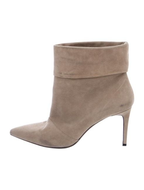Item - Khaki Fold-over Suede Ankle Boots/Booties Size EU 40 (Approx. US 10) Regular (M, B)