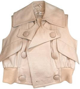 Max Mara Size 4 Leather Leather Vest
