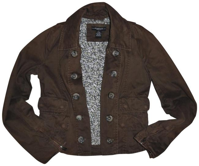 Rampage Brown Vintage-style Worn Faded Double-breasted Boho Jacket Size 4 (S) Rampage Brown Vintage-style Worn Faded Double-breasted Boho Jacket Size 4 (S) Image 1