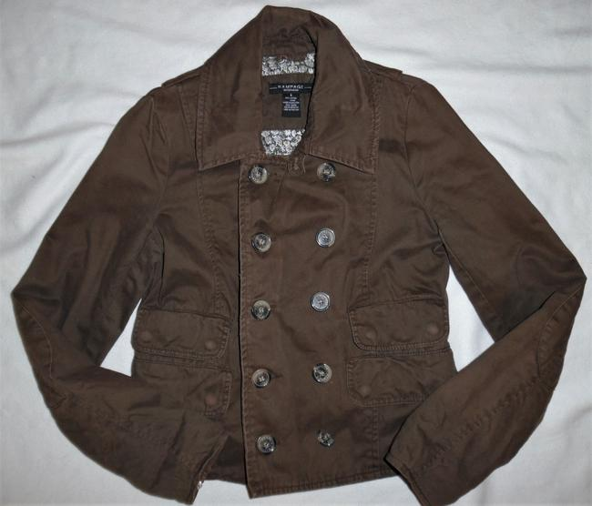 Rampage Brown Vintage-style Worn Faded Double-breasted Boho Jacket Size 4 (S) Rampage Brown Vintage-style Worn Faded Double-breasted Boho Jacket Size 4 (S) Image 2