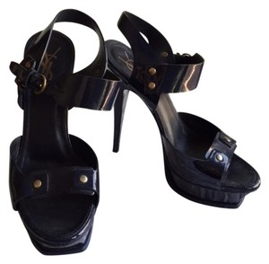 Saint Laurent navy blue ankle strap Sandals