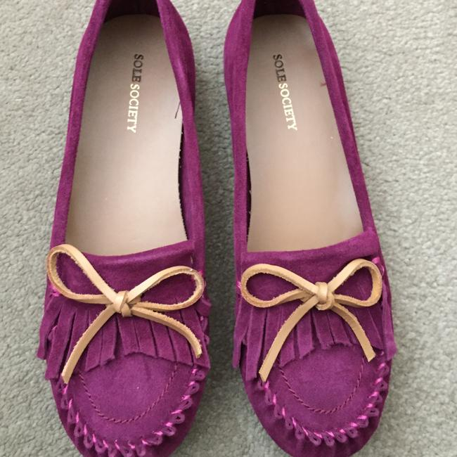 Sole Society Cranberry So-sarah Suede Moccasins Flats Size US 8 Regular (M, B) Sole Society Cranberry So-sarah Suede Moccasins Flats Size US 8 Regular (M, B) Image 1