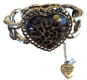 Betsey Johnson Betsey Johnson Animal Print Heart Bracelet