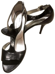Nine West Leather Strappy Black Sandals