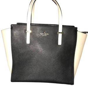 Kate Spade Satchel in Black with Cream Sides