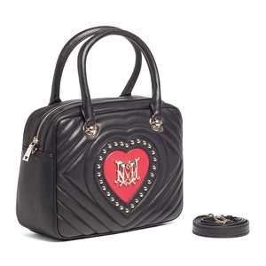 Love Moschino Satchel in Black/Red