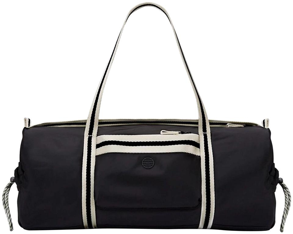 527b6c5404ce Tory Burch Soft Duffle White Black Nylon Weekend Travel Bag - Tradesy
