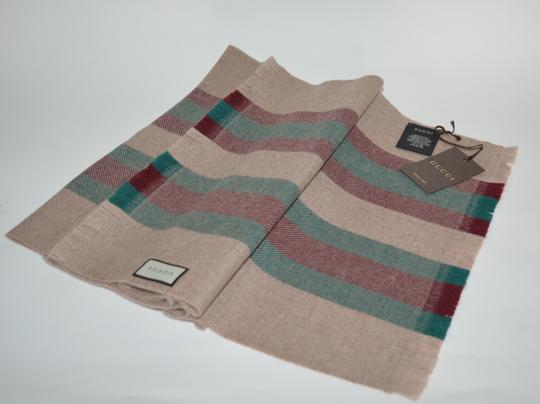 Gucci NEW GUCCI 100% WOOL STRIPE SCARF WRAP MUFFLER MADE IN ITALY Image 1
