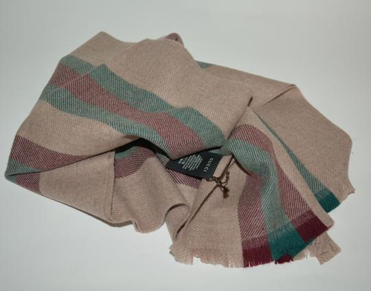 Gucci NEW GUCCI 100% WOOL STRIPE SCARF WRAP MUFFLER MADE IN ITALY Image 3