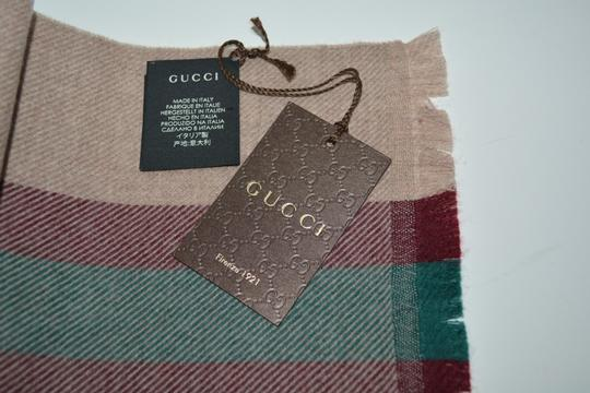 Gucci NEW GUCCI 100% WOOL STRIPE SCARF WRAP MUFFLER MADE IN ITALY Image 4