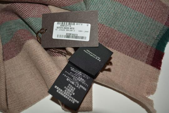 Gucci NEW GUCCI 100% WOOL STRIPE SCARF WRAP MUFFLER MADE IN ITALY Image 6