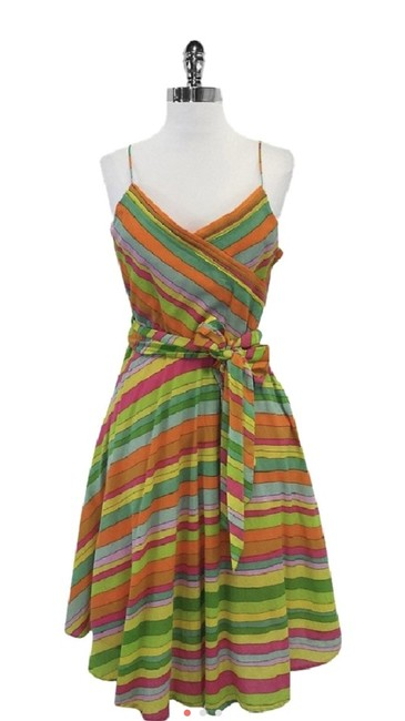 Item - Multicolor Mid-length Cocktail Dress Size 4 (S)