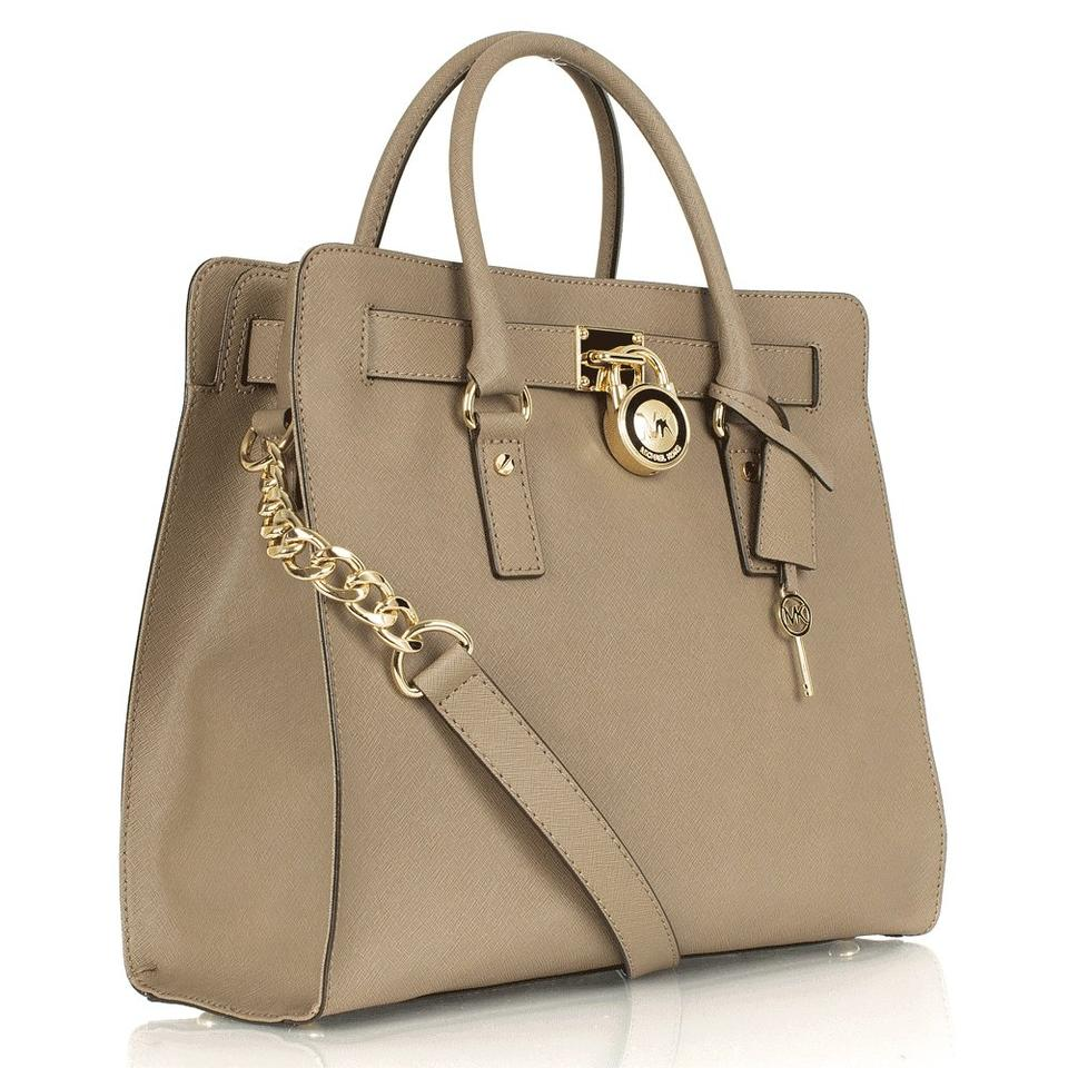 Michael Kors Dune Mushroom Khaki Shoulder Satchel In Dark Taupe