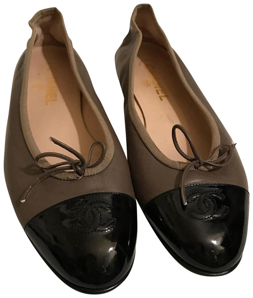 afca9050626 Chanel Taupe Brown Cc Logo Cap Toe Ballet Bow 40 1/2 Flats Size US 9.5  Regular (M, B) 30% off retail