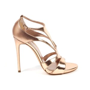 Casadei Leather Italian Party Rose Gold Pumps