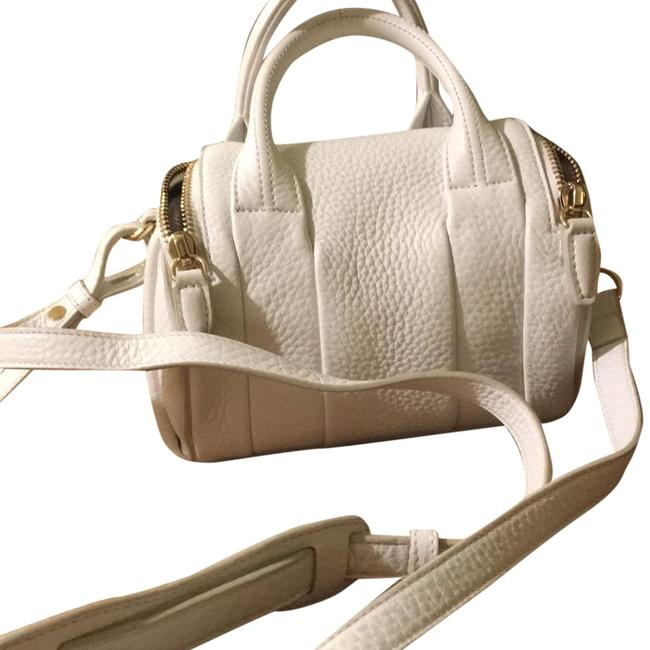 Item - Mini Rockie In Peroxide with Pale Gold White Pebbled Leather Cross Body Bag
