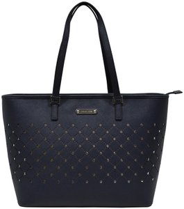 Michael Kors Leather Tote in navy