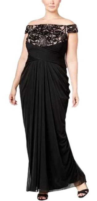 Preload https://img-static.tradesy.com/item/22992845/adrianna-papell-black-with-pink-off-the-shoulder-slit-gown-long-formal-dress-size-18-xl-plus-0x-0-3-650-650.jpg