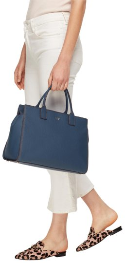 Kate Spade Leather New York Satchel in Blue Image 0